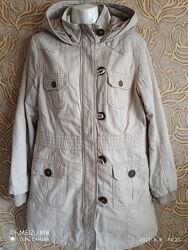 Отличная демисезонная удлиненная куртка/ парка /осень/евро зима dunnes