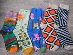 Модные носки Носки с узором на 36-40 р. носочки шкарпетки