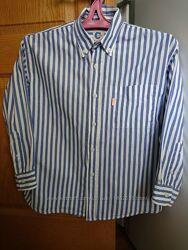 Рубашка в полоску для мальчика 140 размер 9-10 лет