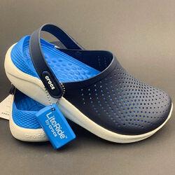 Мужские синие сандалии крокс Crocs LiteRide оригинал, большой ассортимент