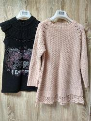 Теплые платья-тунички девочке 6-8 лет