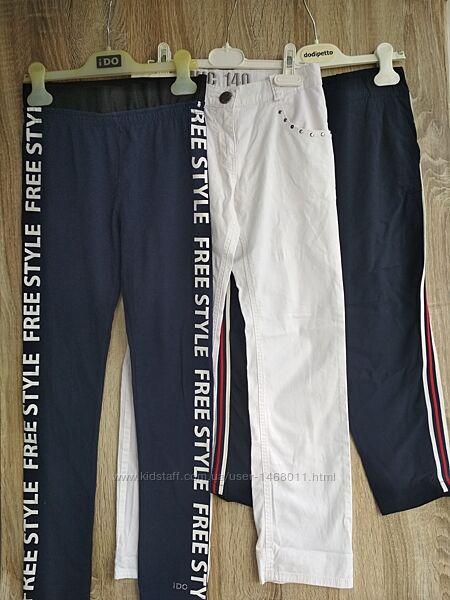 Лосины, бриджи и тоненькие летние штаны  девочке 9-10лет