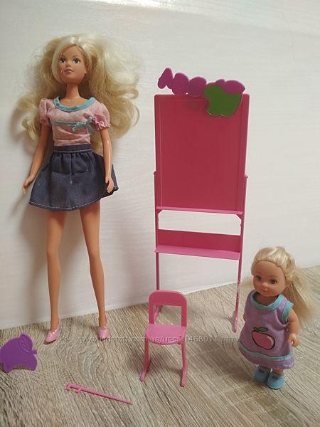 Кукла Штеффи учитель и Ева ученица от Simba в отличном состоянии