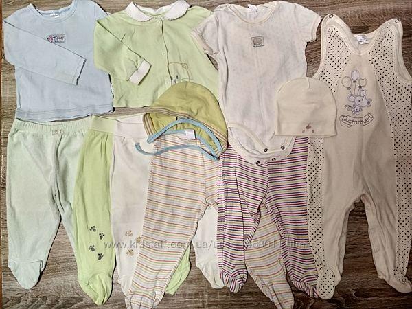 Набор одежды для новорожденного р.68-74 в отличном состоянии