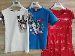 Три футболки девочке 9-11лет в отличном состоянии