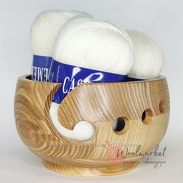 Деревяные клубочницы для вязания