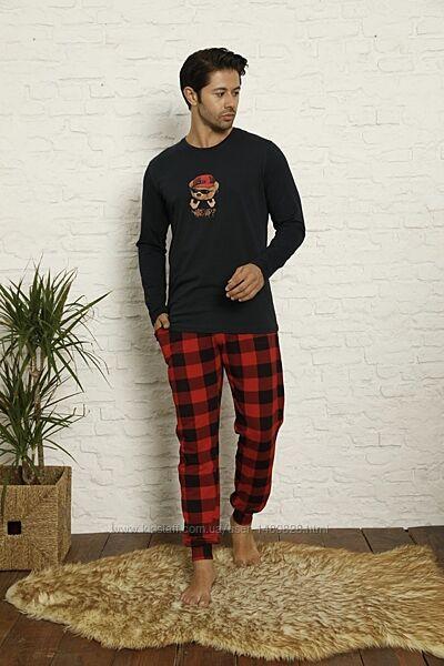 Мужская пижама хлопок для дома и сна