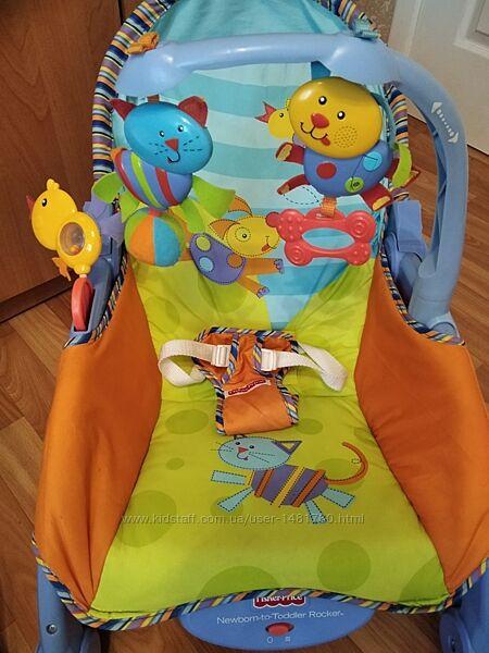 Шезлонг - кресло - качалка Deluxe 2в1 Fisher-Price