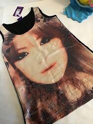 Мерцающая оригинальная туника, летнее платье, яркий фотопринт, 2 размера