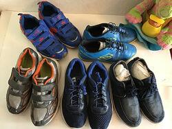 кроссовки, сороконожки, мокасины всего 5 пар обуви для мальчика р.38-39