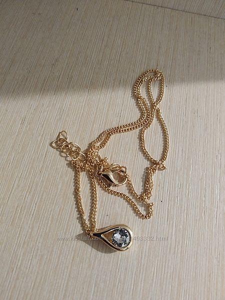 Колье Капелька с кристаллом Сваровски
