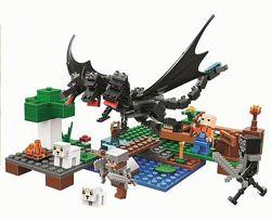 Конструктор Майнкрафт Minecraft Нападение черного дракона