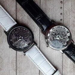 Наручные часы скелетоны кварцевые, 5 моделей.