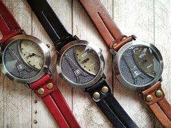 Часы намотка из натуральной кожи в 4 цветах.