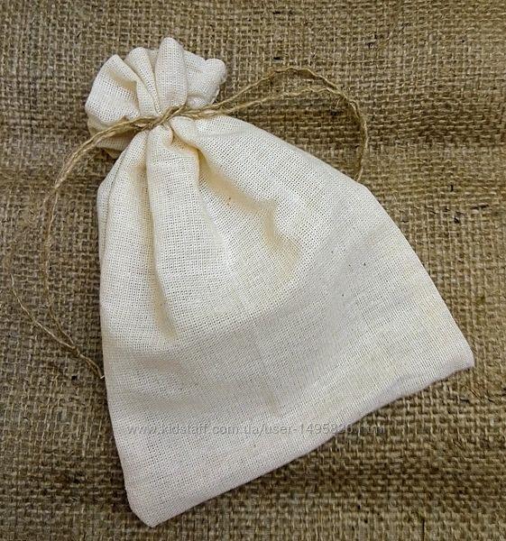 Мешочки из натуральной ткани, бежевые мешки, упаковка, любой размер