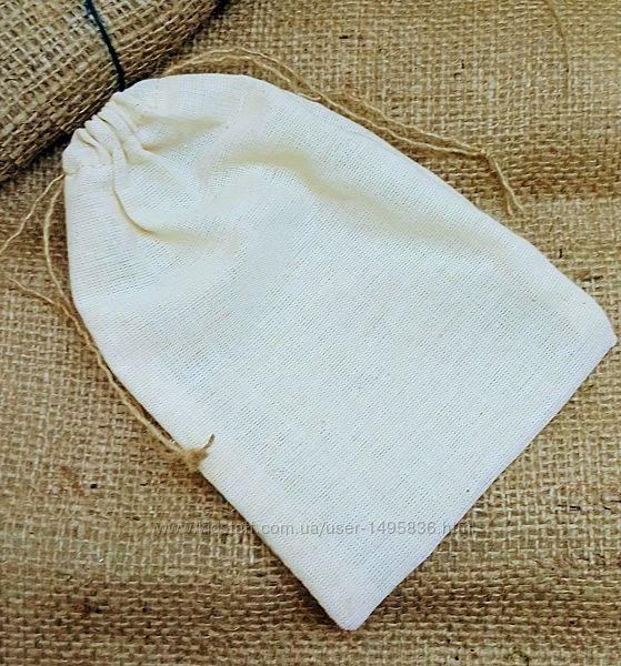 Мешочки из ткани с завязками, бежевые мешки, упаковка, экоупаковка