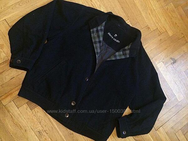 Стильная куртка, полупальто, бомбер, шерсть и кашемир, pierre cardin, оригинал