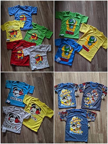 Детская футболка амонг, бравл, микки, щенячий, лайк