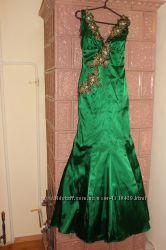 Платье, вечернее платье, атласное платье, платье на выпускной