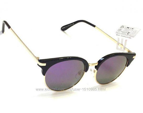 Солнцезащитные очки круглые, клабмастер, поляризация