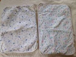 пеленка хлопок паралон и клеенка непромокайка многоразовая 45х65 и 45х60
