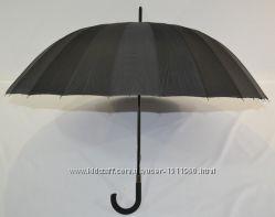 Черный зонтик трость на 24 спицы от фирмы MaX