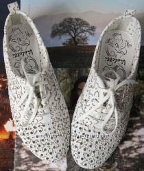Violetti Прованс женские мокасины туфли балетки с перфорацией кожа