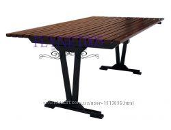 Садовые и обеденные столы из дерева