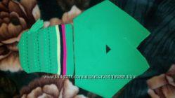 яркий наборчик, шапочка и шарфик на 3-5л, отличное состояние