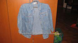 джинсовая рубашка  Sprit jeans, р 128 отличное