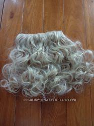 Новые очень красивые волосы на клипсах, холодный блонд