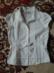 Красивая школьная блузка NEXT на 7л, отличное состояние