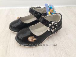 Чорні туфельки для дівчинки Шалунішка
