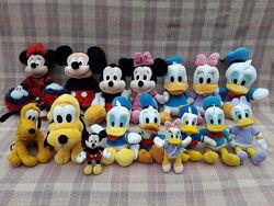 Игрушка мягкая Дональд и Дейзи Дак, Микки и Минни Маус, Плуто Дисней Disney