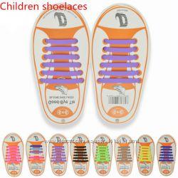 Ленивые шнурки силиконовые для обуви, детские шнурки, шнурки для детей