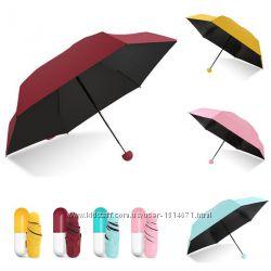 Компактный зонтик с капсулой для удобного хранения