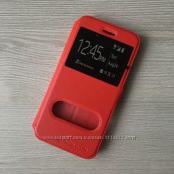 Красный черный золотой чехол книжечкой Nilkin для iPhone 6 6S на магните