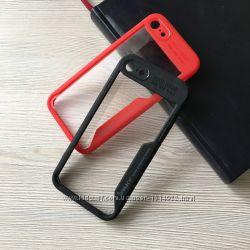 Чехол для Apple iphone 7 7pl 8 8pl Auto Focus с красным или черным ободом