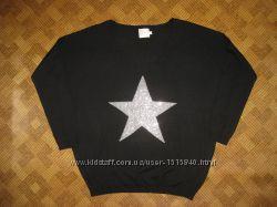 красивая кофта, свитер, джемпер - звезда - T-U - 46-48рр.