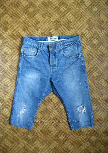 джинсовые шорты - Topman - Skinny Carrot - размер 34R Uk - L