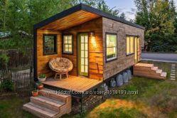 Садовый, дачный домик с террасой и мансардой.