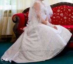 Свадебное белое платье фасон Рыбка