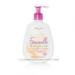 Освежающее средство для интимной гигиены с розовой водой Феминэль