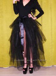 черная многослойная юбка пачка фатиновая