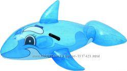 Кит надувной 41036 Bestway, плотик, кит, акула, касатка, синий кит