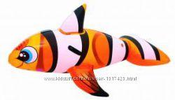 Рыбка Немо 41088 Bestway, Рыбка клоун, рыбка Немо надувная, плотик
