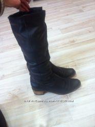 Кожаные сапоги сапожки чоботи