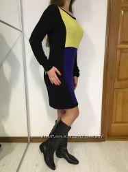 Трикотажное платье с яркими вставками, длинный рукав, George M-L