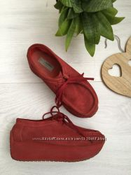 Яркие криперы на платформе, туфли, сникерсы, кроссовки, натуральная замша