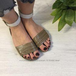Босоножки летние, удобные сандали на низком ходу, натуральная кожа, 37